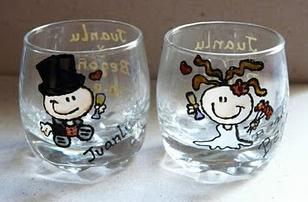 Bodas dulce de susuwatari for Vasos chupito personalizados